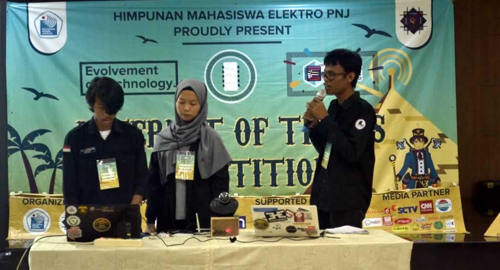 Mahasiswa TF menjadi Finalis IoT Competition di Politeknik Negeri Jakarta